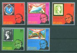 Guinea Equatorial 1978 Rowland Hill, Stamp On Stamp 5v MNH - Guinea Equatoriale