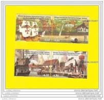 4 Stamps PORTUGAL THAILAND DIPLOMATIC RELATIONS  Ship Nau Batea Bateaux & Elephant Elephants - Unused Stamps