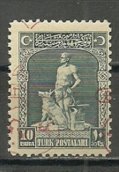 Turkey; 1928 2nd Izmir  Exhibition 10 P., Reverse&Shifted Overprint ERROR - Nuevos