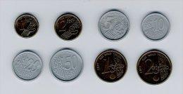 8 PIECES = 1 Set EURO Coins, Scolaire, Spielgeld, Educativgeld, Play Money, Plastic, UNC - EURO