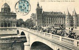 CPA 75 PARIS LE PONT AU CHANGE ET LE PALAIS DE JUSTICE 1907 - Arrondissement: 01