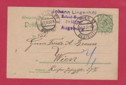 ALLEMAGNE // Entier Postal De Augsburg Pour Vienne   //  27 /9/1907 - Ganzsachen