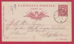 ITALIE   //   Entier Postal //  De Trapan Pour Naples //  25/6/1895 - Stamped Stationery