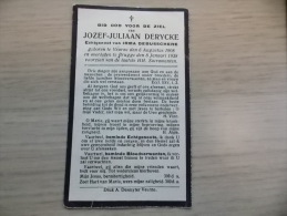 Doodsprentje Jozef Juliaan Derycke Veurne 6/8/1908 Brugge 8/1/1938 (Irma Debusschere) - Religione & Esoterismo
