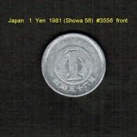 JAPAN   1  YEN  1981 (HIROHITO 56---SHOWA PERIOD)  (Y # 74) - Japan