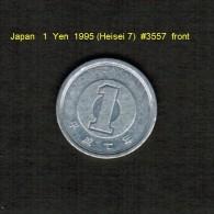 JAPAN    1  YEN  1995 (AKIHITO 7---HEISEI PERIOD)  (Y # 95.2) - Japan