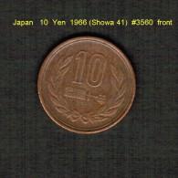 JAPAN    10  YEN  1966 (HIROHITO 41---SHOWA PERIOD)  (Y # 73a) - Japan