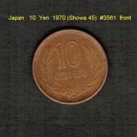JAPAN    10  YEN  1970 (HIROHITO 45---SHOWA PERIOD)  (Y # 73a) - Japan