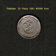PAKISTAN     25  PAISA  1981  (KM # 58) - Pakistan