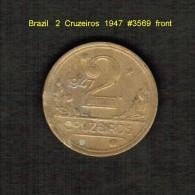 BRAZIL     2  CRUZEIROS  1947  (KM # 559) - Brazil
