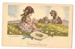 BONNES PAQUES Signée  V  CASSELLIN - Easter