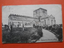 29814 PC: YORKSHIRE: St. Oswald's Church, Filey.  (Postmark 1904). - England