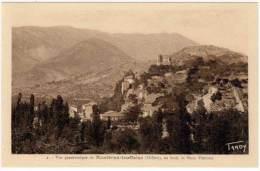 Vue Panoramique De Montbrun Les Bains - Au Fond Le Mont Ventoux - France