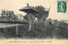 Depts Div- Yvelines - Ref K312- Porcheville -  Villas Au Bord De La Seine  - Carte Bon Etat  - - Other Municipalities