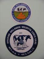 2 Etiquettes Fromage - J.Visser Huizen  - Hollande Export  A Voir ! - Cheese