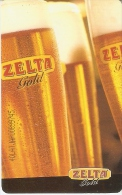 TARJETA DE LETONIA DE CERVEZA ZELTA  (BEER) - Publicidad