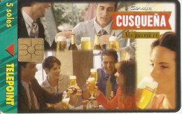 TARJETA DE PERU DE CERVEZA CUSQUEÑA 5 SOLES (BEER) - Publicidad