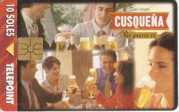 TARJETA DE PERU DE CERVEZA CUSQUEÑA 10 SOLES (BEER) - Publicidad