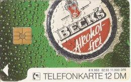 TARJETA DE ALEMANIA DE CERVEZA BECK´S  (BEER) - Publicidad