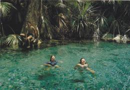 AUSTRALIE,AUSTRALIA,MATARANKA,THERMAL POOL,piscine Naturelle,nageur,touriste Français - Australia