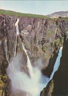 Norway Voringsfossen Falls Mabodalen Valley