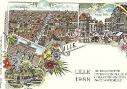 Cpm - Lille - 10ième Rencontre Des Collectionneurs 1988 - Bolsas Y Salón Para Coleccionistas