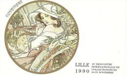 Cpm - Lille - 12ième Rencontre Des Collectionneurs 1990 - Bolsas Y Salón Para Coleccionistas