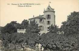Depts Div- Yvelines - Ref K245- Hameau Du Val Notre Dame - Chateau De Bellevue   - Carte Bon Etat - - Frankreich