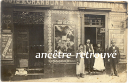 Carte Photo-Maison VIZIER-bois Charbon Liqueurs Vins-beaucoup De Publicités-Darben-Gabert- Paris? - Métiers