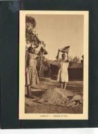 LESOTHO  1950  VUE  ETHNIQUE VANNAGE DU MAIS    CIRC   NON     / EDIT BRAUN ET CIE - Lesotho