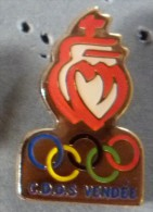 PIN´S JEUX OLYMPIQUES CDOS VENDEE - Olympische Spiele