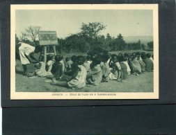 LESOTHO  1950  VUE  ETHNIQUE ECOLE A THABANA MORENA    CIRC   NON     / EDIT BRAUN ET CIE - Lesotho