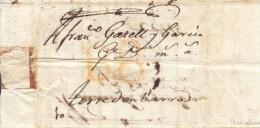 Año 1774 Prefilatelia Carta Barcelona A Torredembarra Marcas B8 Porteo Amarillo - Spain