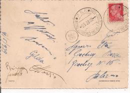 P.N.F. - MOSTRA AUTARCHICA MINERALE ITALIANO - ROMA, 1939, ANNULLO SPECIALE  DELLA MANIFESTAZIONE SU CARTOLINA VIAGGAITA - Minerals
