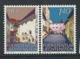 BL3-337 LIECHTENSTEIN 1987 YV 857-858 CHATEAU DE VADUZ, CASTLE, SCHLOSS, CASTELLO, KASTEEL. MNH, POSTFRIS, NEUF**. - Kastelen