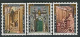 BL3-340 LIECHTENSTEIN 1987 YV 866-868 LIECHTENSTEIN PALACE VIENNA. MNH, POSTFRIS, NEUF**. - Monumenten
