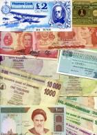50 PCS DE BILLETS DIFFERENTS - 50 PCS DIFFERENT BANKNOTES PAPER MONEY LOT-16 - Kiloware - Banknoten