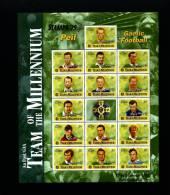 IRELAND/EIRE - 1999 TEAM OF THE MILLENIUM-GAELIC FOOTBALL MS OVPT STAMPA MINT NH - Blocchi & Foglietti
