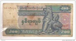 Myanmar - Banconota Circolata Da 200 Kyats - 1994 - Myanmar