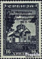 Serbien (Dt.Bes.2.WK.) 107 Postfrisch 1943 Aufdruckausgabe - Ocupación 1938 – 45