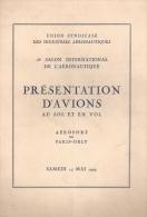 PRESENTATION AVION SOL VOL SALON AERONAUTIQUE PARIS ORLY 1949 AVIATION