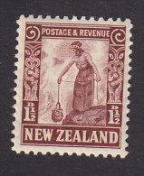New Zealand, Scott #187, Mint Hinged, Maori Woman Cooking, Issued 1935 - Neufs