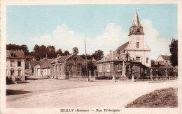 Cpa  80  Heilly , La Rue Principale - France