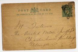 GB--1902--Entier Carte Postale--cachet Londres Pour Aldersgate (GB) - Interi Postali