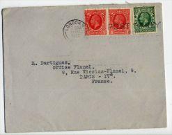 GB-1935-Lettre De Londres SWI-pour Paris (France)-timbre N° 188 (paire Horizontale)+187-- --oblitération Mécanique - 1902-1951 (Rois)