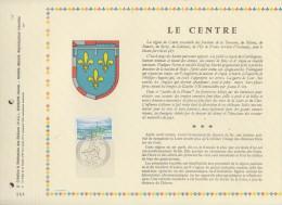 124 FDC 1ER 31 X 22cm 1976 FEUILLET LE CENTRE - Documentos Del Correo