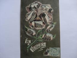 BERGUES Rare  Carte Colorisée - Bergues