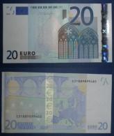 ITALIA ITALY 20 EURO 2002 DRAGHI SERIE S 31889899465 J031C3 UNC FDS 2/2 CONSECUTIVE - 20 Euro