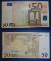 ITALIA ITALY 50 EURO 2002 TRICHET SERIE S 50171718913 J077F1 UNC FDS - EURO