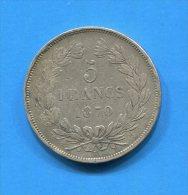 5  Fr  1870 K  Sans  Legende - France